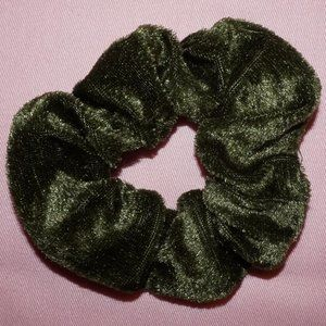 Forest Green Velvet Scrunchie